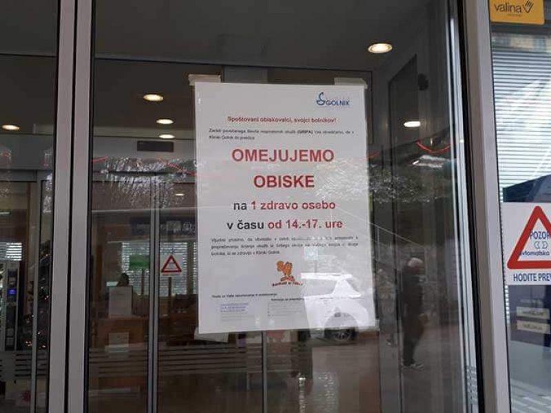 Za obiske sta zaprta oddelek za intenzivno nego in BO 700